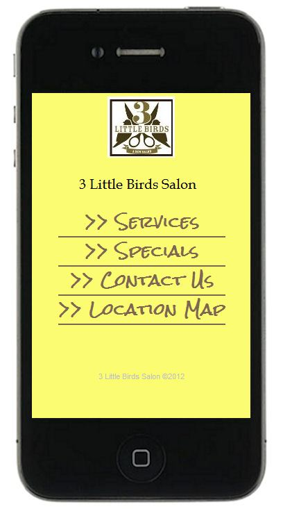 Must be mobile your business 39 s new mobile site is only for 3 little birds salon